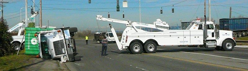 semi-truck towing service puyallup